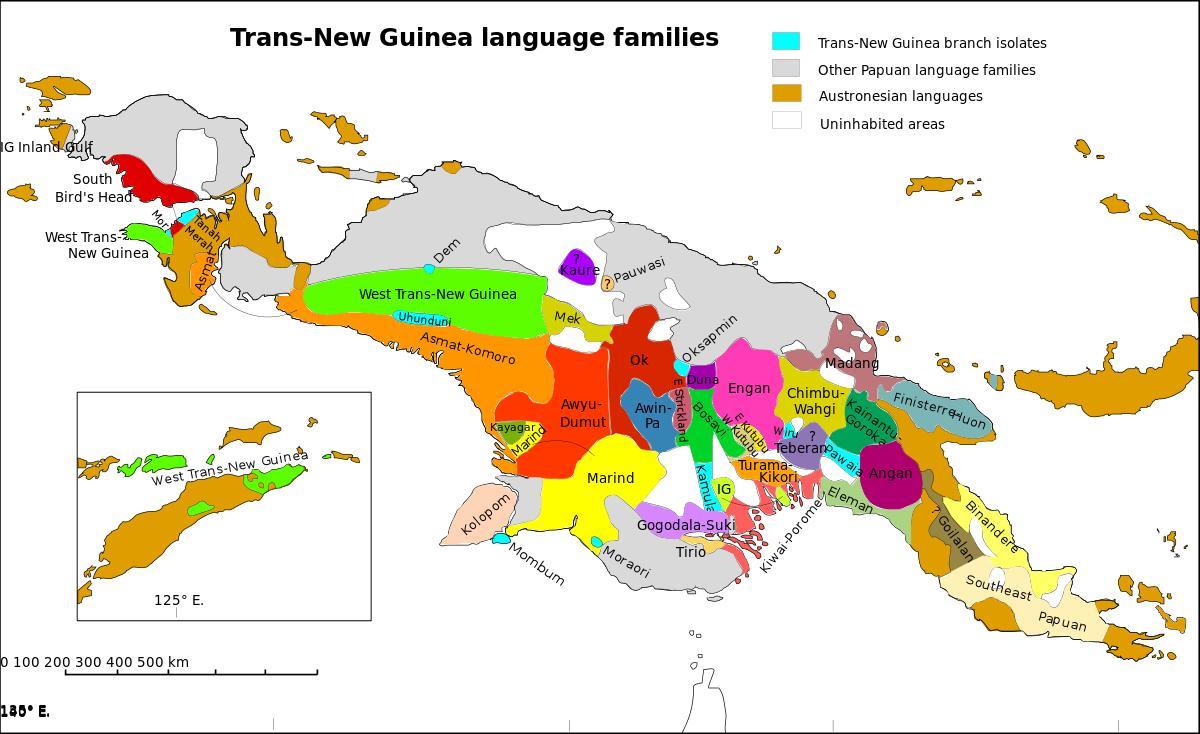 Papua new guinea language map - Map of papua new guinea ...