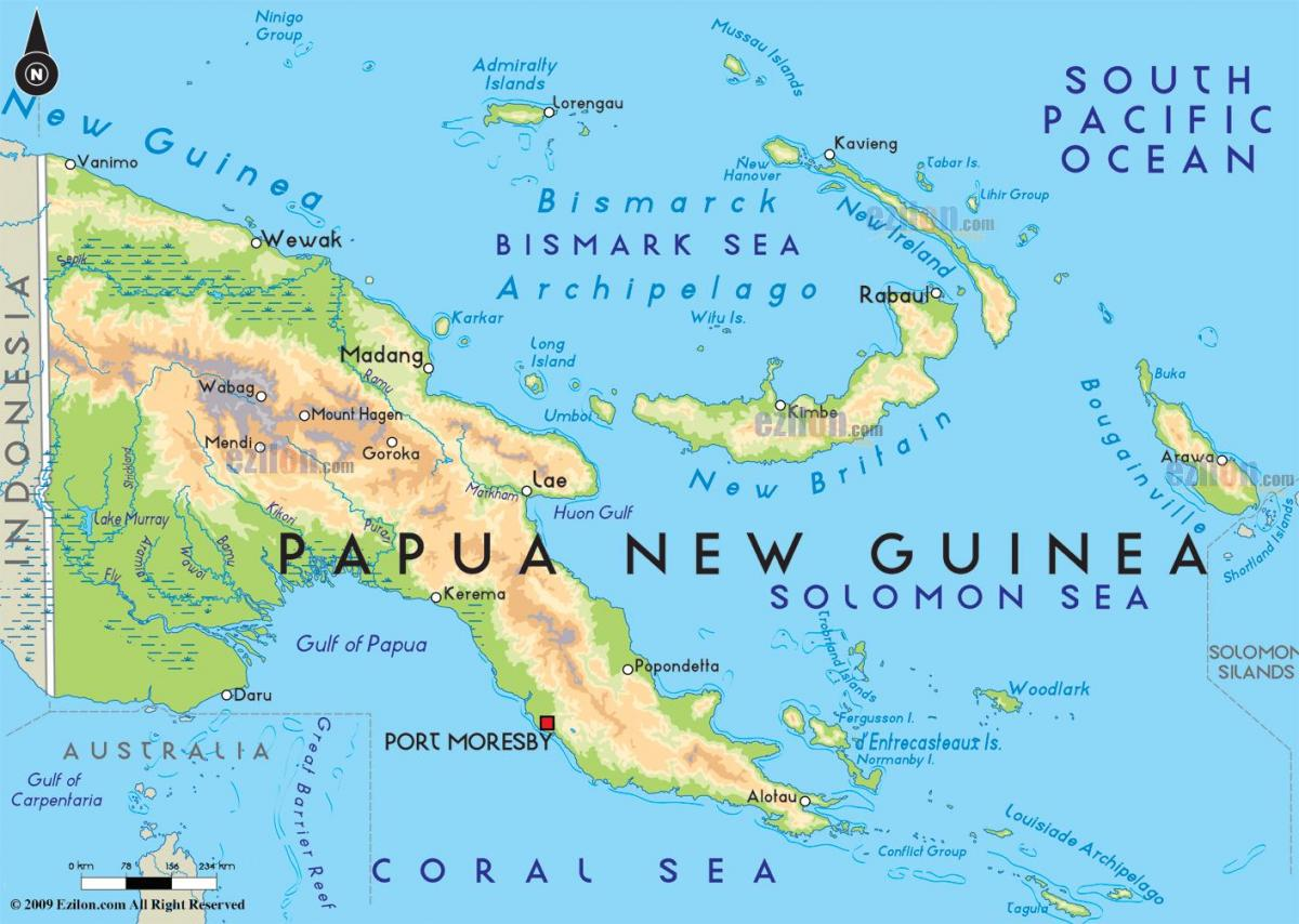 map of capital city of papua new guinea