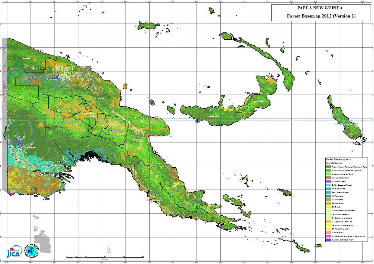map of papua new guinea climate