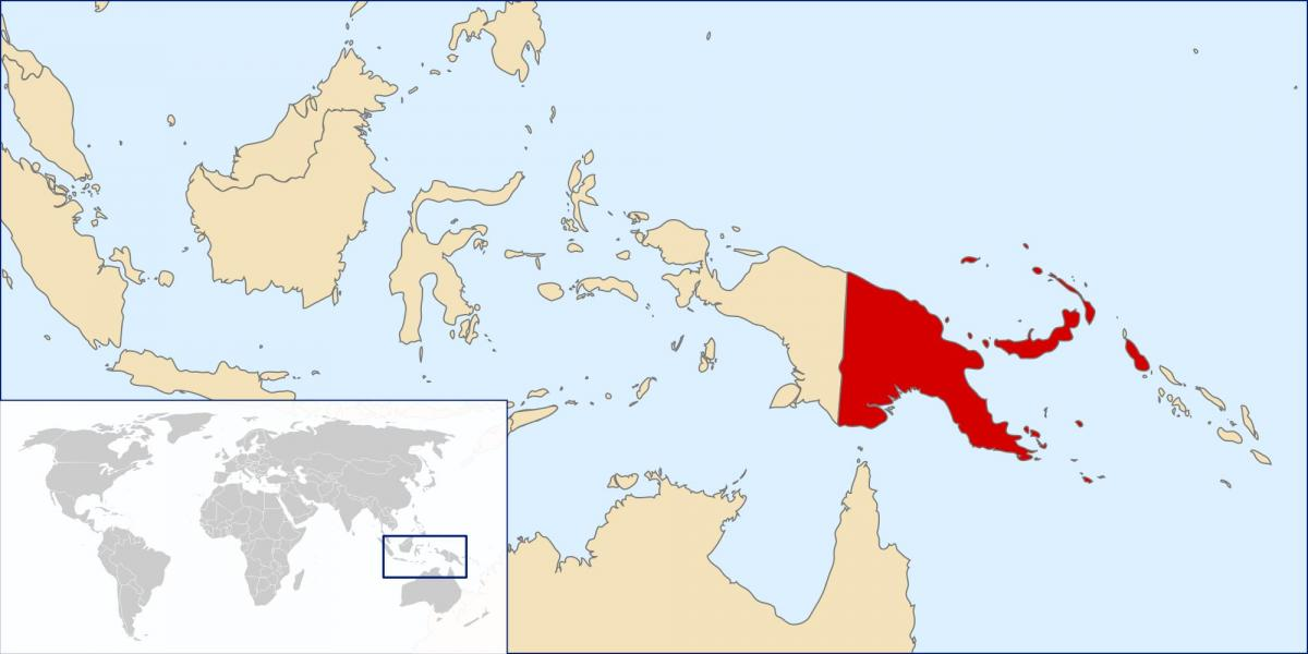 papua new guinea location on world map