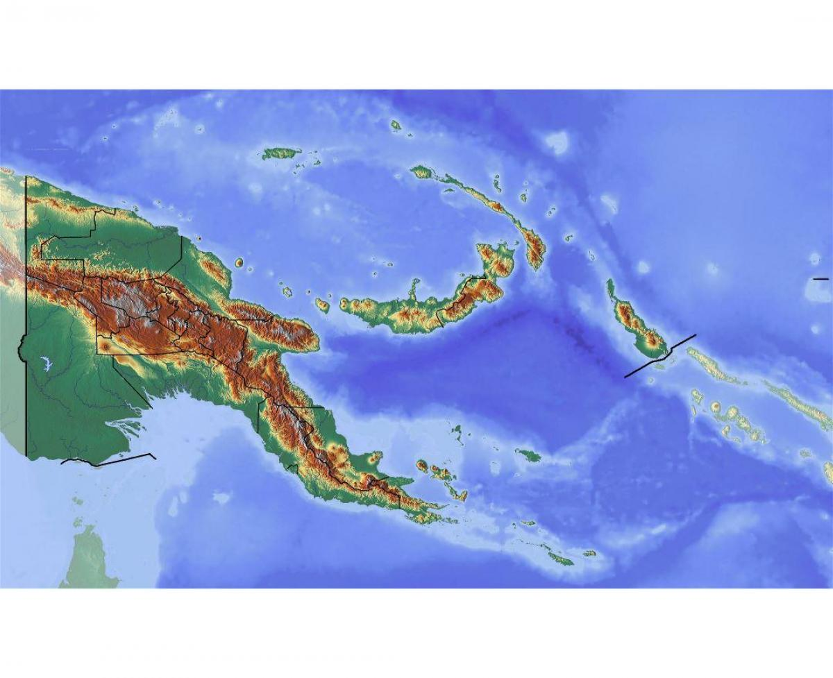 Physical Map Of Papua New Guinea Papua New Guinea Topographic Map Melanesia Oceania
