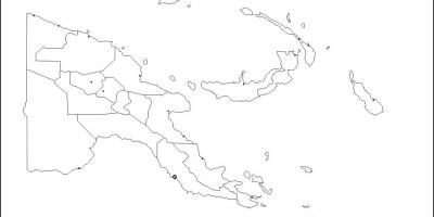 Map of papua new guinea map outline